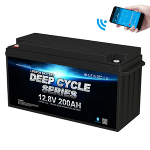 Bluetooth 12v200ah LiFePO4 Battery For RV Camper Caravan